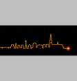 linz light streak skyline vector image vector image