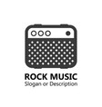 logo for music market vector image vector image