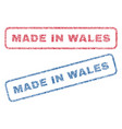 made in wales textile stamps vector image vector image