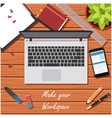 Make your workspace banner2 vector image