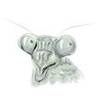 Mantis head vector image vector image