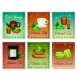 matcha realistic cards set vector image vector image