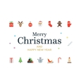 Modern Christmas Card with icons Minimalistic vector image vector image