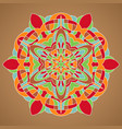 multicolored mandala vector image vector image