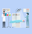 nurse and doctor in operation vector image