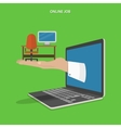 Online job searching flat concept vector image vector image