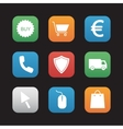 Online store flat design icons set vector image vector image