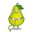 pear measuring waist pop art vector image vector image