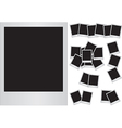 Photo frames on white background vector image vector image