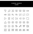 photo video outline icon set vol2 vector image vector image