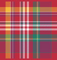 pink plaid tartan seamless pattern vector image