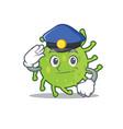 police green bacteria character cartoon vector image vector image