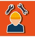 professional construction design vector image