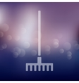 rake icon on blurred background vector image