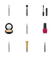 realistic blusher brush fashion equipment and vector image vector image