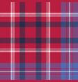 red tartan plaid seamless fabric texture vector image vector image