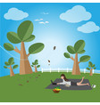 relax in a free day vector image