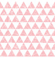 salmon pink triangles and leaves texture vector image