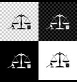 scales justice gavel and book icon isolated on vector image vector image