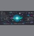 science elements set concept quantum mechanics vector image