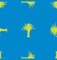 seamless background silhouettes drawn tropical vector image