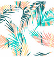 seamless exotic pattern with tropical plants vector image vector image