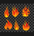 set fire flame easy to modify vector image vector image