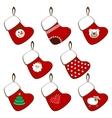 set of Christmas stockings vector image vector image
