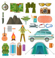 set of the hiking vector image vector image