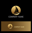 ship yacht gold logo vector image