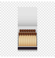 small matchbox mockup realistic style vector image vector image