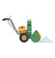 snowblower icon in flat style isolated on white vector image vector image