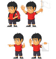 Soccer Boy Customizable Mascot 12 vector image vector image