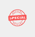 Special stamp vector image