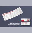 standard square brochure template vector image