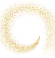 stream of golden particles vector image vector image