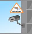 surveillance camera flat color vector image
