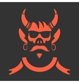 Symbol Skull With Horns vector image vector image