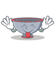 tongue out colander utensil character cartoon vector image vector image