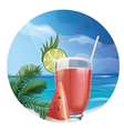 Tropic exotic cocktail vector image vector image
