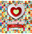valentine background with hearts and message vector image