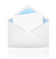 White open envelope with paper vector image