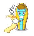 with menu sleeping bad mascot cartoon vector image