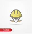 worker face icon vector image
