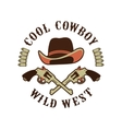 Cowboys emblem on a white background vector image