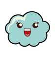 kawaii cloud icon vector image