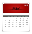 2013 calendar may vector | Price: 1 Credit (USD $1)