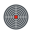 aim target icon flat style vector image