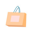 bag of beige color with handles shopping packet vector image vector image