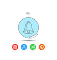 bell icon sound handbell sign vector image